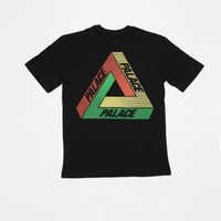 Palace Tri Line Rasta Tee Black - Present London