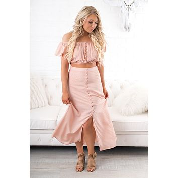 New Friends Two Piece Set (Mauve)
