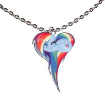 Best my little pony necklace products on wanelo kawaii rainbow dash necklace my little pony friendship is magic mozeypictures Images