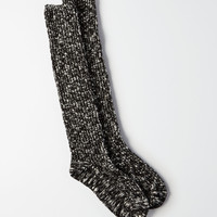 AE Marled Slub Boot Socks , True Black