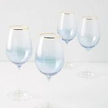 Purple Waterfall Wine Glasses, Set of 4