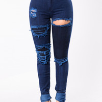 Erase The Blues Jeans - Light Indigo
