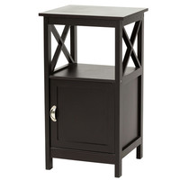 Country - Side Table with Door, black coffee