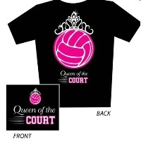 VOLLEYBALL > SHIRTS > SREENPRINTED SAYINGS > Tandem - Queen of the Court