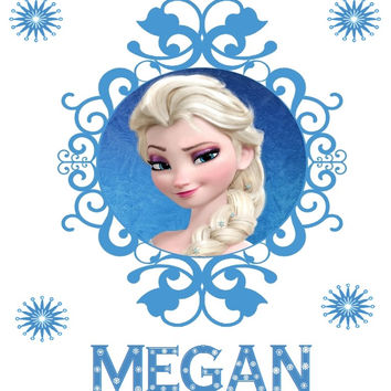 Elsa ( Frozen ) Personalised Iron On Transfer