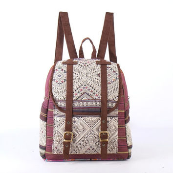 Small Native Southwestern Tribal Rucksack Minimalism, Oriental Backpack