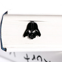 Bookmark Darth Vader laser cut metal powder coated black Stylish unique gift for book lover Free shipping.