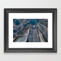World Trade Center Framed Art Print by Claude Gariepy