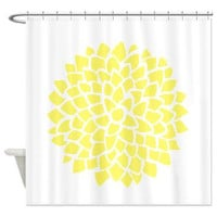 Sunny Yellow Dahlia on white  Shower Curtain  - sunny - Minimalist  - happy bathroom decor