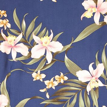 bamboo orchid blue hawaiian fabric