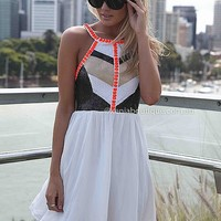 CAGE BACK SEQUIN JEWEL DRESS , DRESSES, TOPS, BOTTOMS, JACKETS & JUMPERS, ACCESSORIES, SALE, PRE ORDER, Australia, Queensland, Brisbane