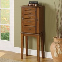 Coaster 900126 Jewelry Armoire, Brown Cherry