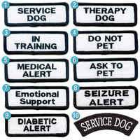 1x3 inch Service Dog Patches -- 10 to choose from
