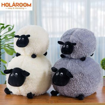 Cartoon Sheep Lamb Doll Plush Toys White/Gray Children's Baby Birthday Kids Soft Fluffy Stuffed Toys Cartoon neck pillow Gift