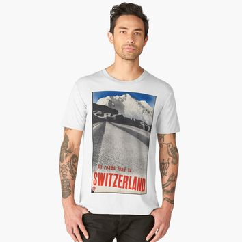 """All Roads Leads to Switzerland"" Men's Premium T-Shirt by hypnotzd 