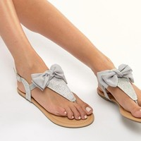 Lipsy Sandal With Bow Detail at asos.com