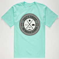 Cali's Finest Surf Patch Mens T-Shirt Mint  In Sizes