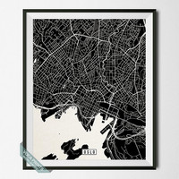 Oslo Print, Norway Poster, Oslo Poster, Oslo Map, Norway Print, Street Map, Norway Map, Wall Decor, Office Decor, Wall Art