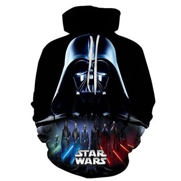 Star Wars Force Episode 1 2 3 4 5  hoodies Print Hoodies 3D Cool Design Men Sweatshirts Casual Male Tracksuits Fashion Tops Asian size s-6xl AT_72_6