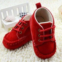 Baby Boy Faux Suede  Soft Sole Shoes