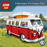 In-Stock 1354Pcs 2017 New LEPIN 21001 Creator Volkswagen T1 Camper Van Model Building Kits Bricks Toys Compatible with 10220
