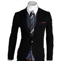 Zeagoo Men's Casual TOP Design FIT Blazers Coats Suit Jackets