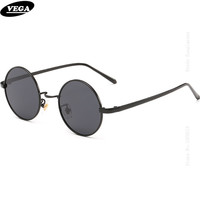 VEGA Good Circle Antique Sunglasses Polarized 80s 90s Hippie Sunglasses For Hip Hop HD Vision Circular Vintage Spectacles 8045