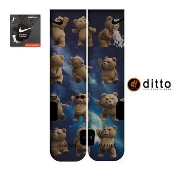 TED MOVIE Design Nike Elite Custom Socks By Ditto! FAST Shipping With Free Order Tracking