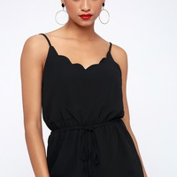 Days Like This Black Scalloped Romper