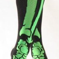 Socks - Knee High Green Skeleton Socks