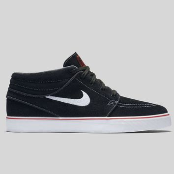 AUGUAU Nike Zoom Stefan Janoski Mid Black White University Red