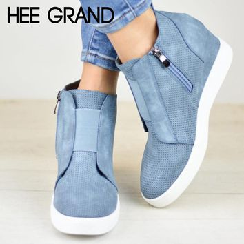 HEE GRAND Women Spring Outdoor Surviva Hiking Ankle Bootie Work&Safety  Winter Boots  Footwear Shoes Mujer Booten XWX6986