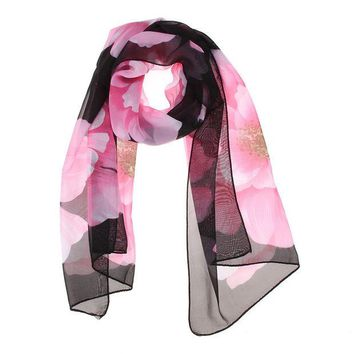 VONE7HQ OPAL FERRIE - Wonderful Chiffon Flora Long Soft Scarf  color 160cm Stylish Wrap Shawl Stole