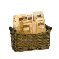 Eco Purity Relaxing Vanilla Ginger 7pc Spa Basket Gift Set
