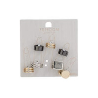 Cut-Out Band Ring Pack - Mixed Metal
