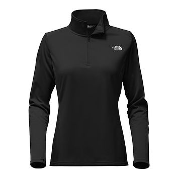 Women's Tech Glacier 1/4 Zip in TNF Black by The North Face - FINAL SALE