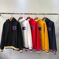 Champion Tide brand big C letter embroidery head hoodie