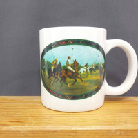 Vintage Ralph Lauren Polo Mug, Equestrian, Horses, Polo Players, Man Cave, Office Pencil Holder, Masculine, Gift Idea, Coffee Cup, Tea Mug