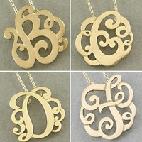 Monogram A - Z Necklaces in Silver, Gold, Rosegold from P.S. I Love You More Boutique