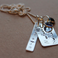 NFL Football Playoffs-- Carolina Panthers, Hand Stamped, Sterling Silver, Stadium Longitude & Latitude Necklace