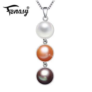 FENASY 2016 fashionpearl Necklaces  for women Wedding  3 COLOR Geometry statement necklace,Freshwater Natural pearls gift