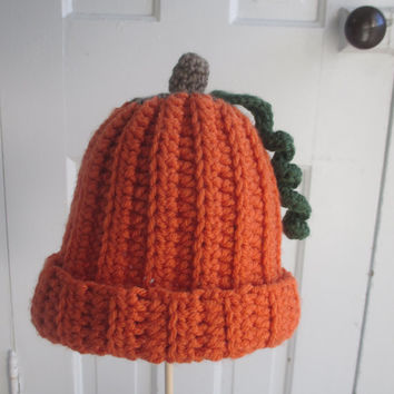 Pumpkin Hat // Crochet Baby, Infant, and Toddler Hat // Halloween // Fall // Winter // Cute