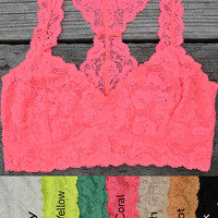 SLEEVELESS LACE BRA TOP