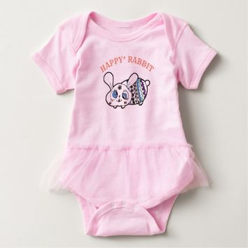 Happy Easter Rabbit Baby Bodysuit