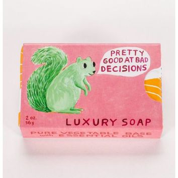 Pretty Good At Bad Decisions Luxury Soap Bar