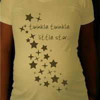 Maternity Tshirt Twinkle Twinkle by discobelly on Etsy