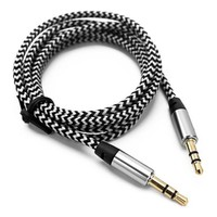 Lot Braided Two-tone 3.5MM Jacks Male To Male Audio Cable AUX Cord For Car iPod