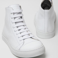 Marc Jacobs Men's Leather Hi-Top Combo Sneaker in neutral at oki-ni