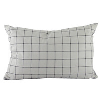grid cushion / charcoal
