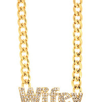 Wifey-Material-Necklace GOLD - GoJane.com